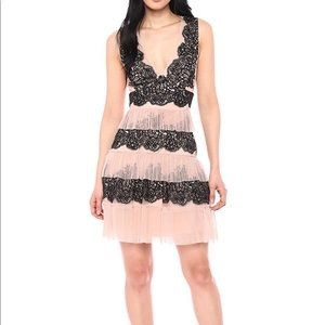BCBGMAXAZRIAWomen's Floral Embroidered Tulle Dress